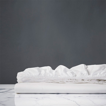 CHIARO CLASIC WHITE FITTED SHEET