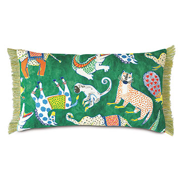 HULLABALOO BRUSH FRINGE DECORATIVE PILLOW