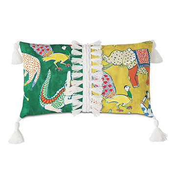 HULLABALOO TASSEL TRIM DECORATIVE PILLOW