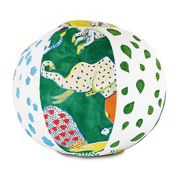HULLABALOO HANDPAINTED BALL DECORATIVE PILLOW