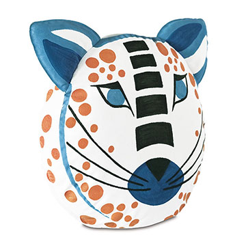 HULLABALOO HANDPAINTED TIGER DECORATIVE PILLOW