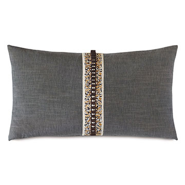 INDOCHINE PLEATED TRIM DECORATIVE PILLOW
