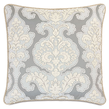 JOLENE DAMASK DECORATIVE PILLOW