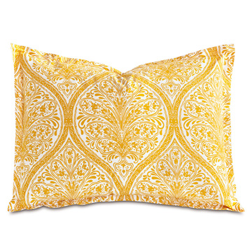 Adelle Percale King SHam in Saffron