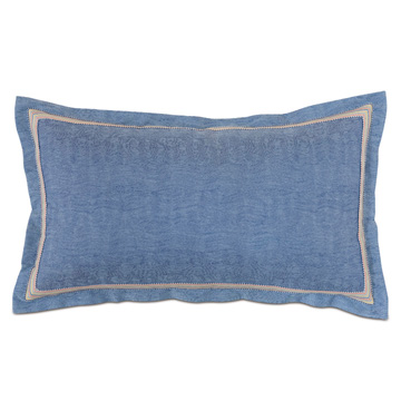 Paloma Solid King Sham in Blue