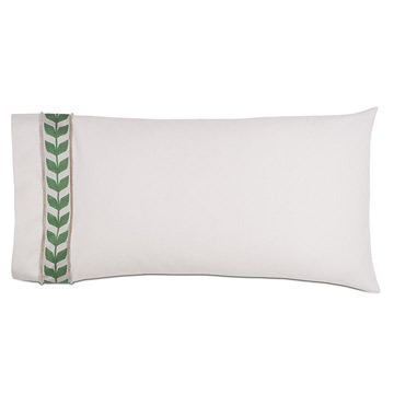 Akela Leaf King Sham in Green (Left)