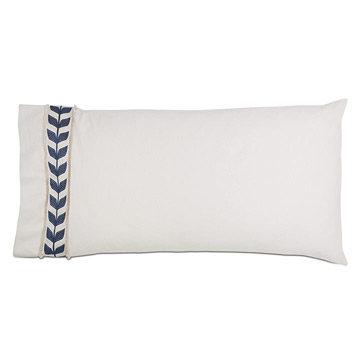 Akela Leaf King Sham in Blue (Left)