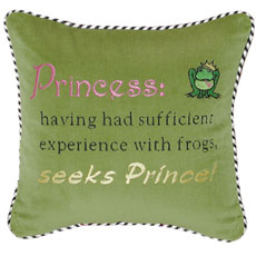 Princess: having had sufficient experience with frogs, seeks Prince!