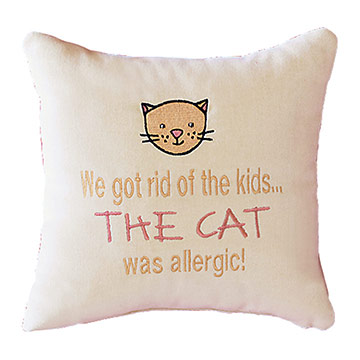 We got rid of the kids... The cat was allergic!