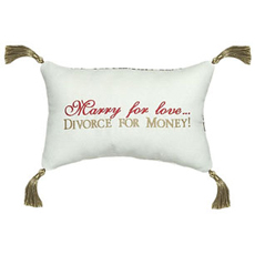 Marry for love... Divorce for the money!