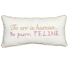 To err is human... to purr, feline