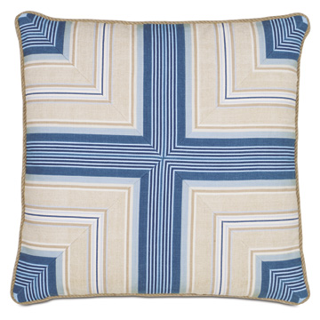 Maritime Nautical Accent Pillow in Blue