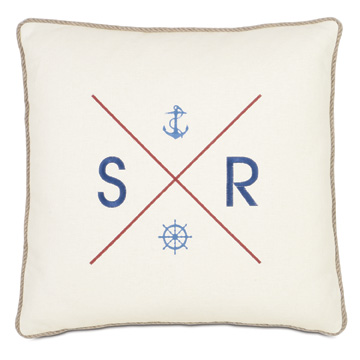 Nautical flag monogram