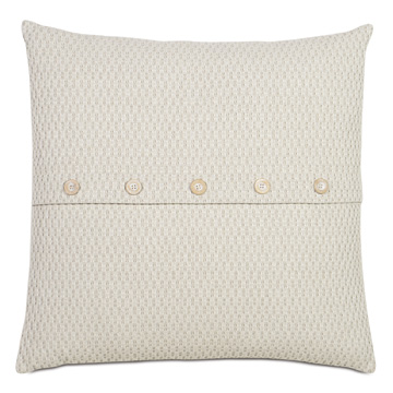 Maritime Coastal Accent Pillow in Cream