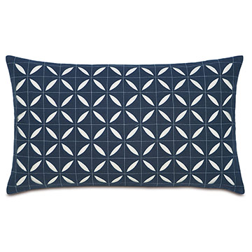 Breeze Indigo grid oblong