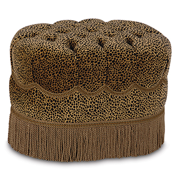 TOGO COIN OVAL TUFTED OTTOMAN