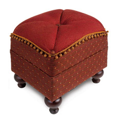 BRONWYN MERLOT PILLOW TOP OTTOMAN