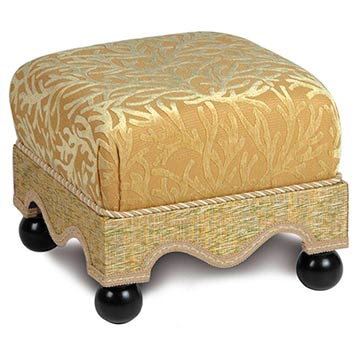 AUGUSTINE GOLD MEDIUM OTTOMAN
