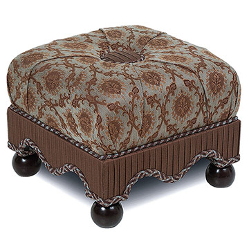 VENEZIA TEAL MEDIUM OTTOMAN