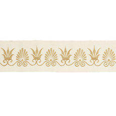 ANTHEMION BORDER IVORY/GOLD SMALL