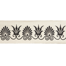 ANTHEMION BORDER IVORY/BLACK LARGE