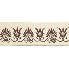 ANTHEMION BORDER IVORY/BROWN LARGE