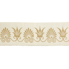 ANTHEMION BORDER IVORY/GOLD LARGE