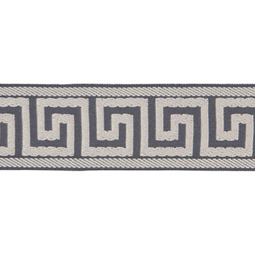 BORDER GREEK KEY F (PEWTER)