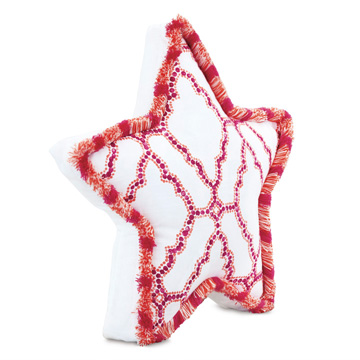 Palmoa Starfish Accent Pillow in Fuschia