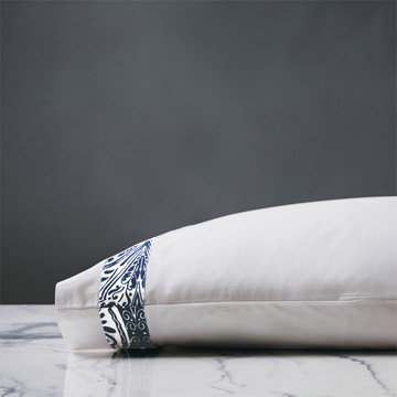 Adelle Percale Pillowcase in Marine