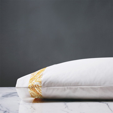 Adelle Percale Pillowcase in Saffron