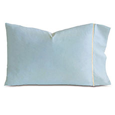 LINEA AZURE/ECRU PILLOWCASE