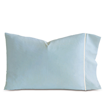 LINEA AZURE/WHITE PILLOWCASE