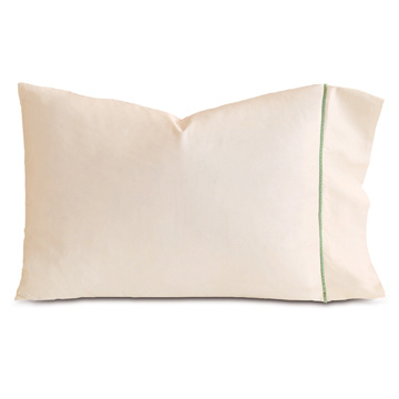 LINEA ECRU/ALOE PILLOWCASE
