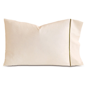 LINEA ECRU/OLIVA PILLOWCASE