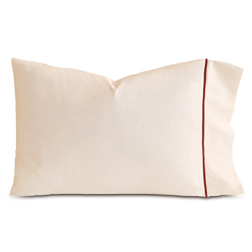 LINEA ECRU/SHIRAZ PILLOWCASE