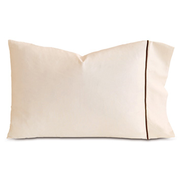 LINEA ECRU/WALNUT PILLOWCASE