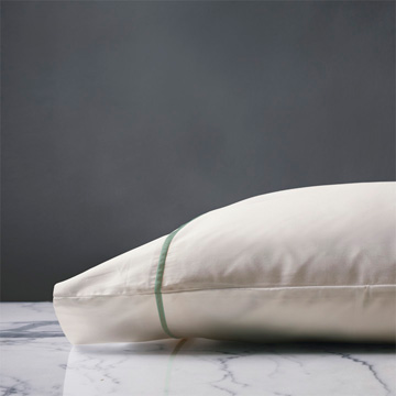 LINEA IVORY/ALOE PILLOWCASE