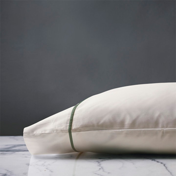 LINEA IVORY/OLIVA PILLOWCASE