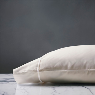 LINEA IVORY/WHITE PILLOWCASE