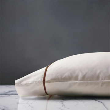 LINEA IVORY/WALNUT PILLOWCASE
