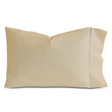 LINEA SABLE/AZURE PILLOWCASE