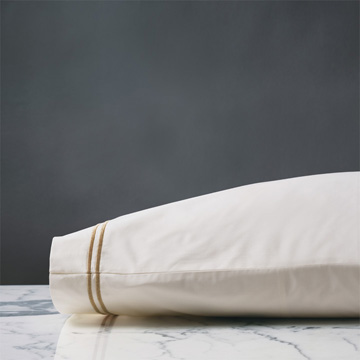 ENZO IVORY/ANTIQUE PILLOWCASE