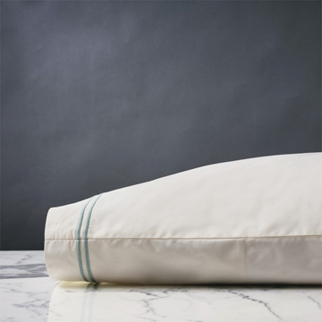 ENZO IVORY/LAKE PILLOWCASE