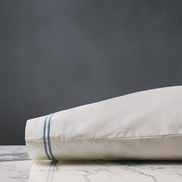 ENZO IVORY/OCEAN PILLOWCASE