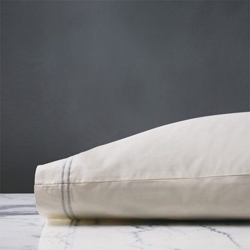 ENZO IVORY/SILVER PILLOWCASE
