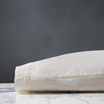 ENZO IVORY/WHITE PILLOWCASE