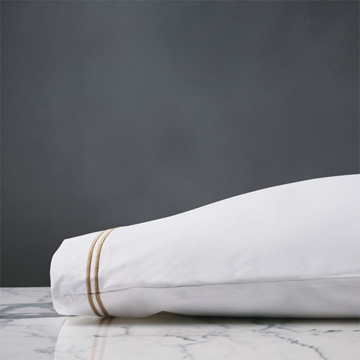 ENZO WHITE/ANTIQUE PILLOWCASE