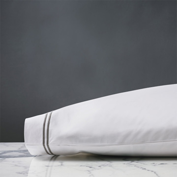 ENZO WHITE/DOVE PILLOWCASE