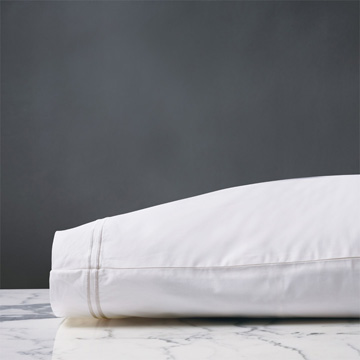 ENZO WHITE/WHITE PILLOWCASE